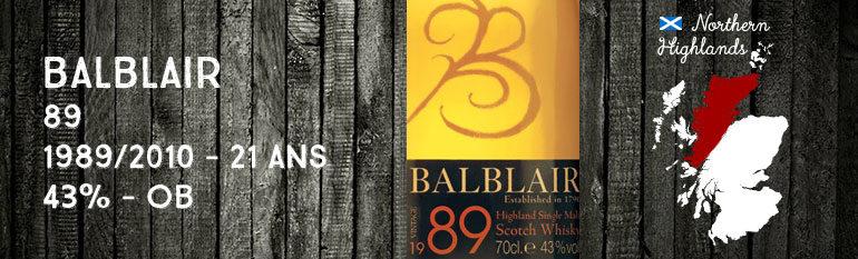 Balblair 1989/2010 2nd release – 21yo – 43 % – OB
