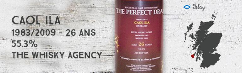 Caol Ila 1983/2009 – 26yo – 55,3% – TheWhiskyAgency The Perfect Dram