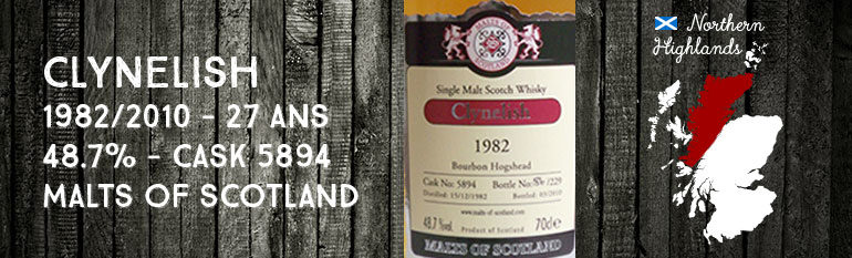 Clynelish 1982/2010 – 27yo – 48,7 % – Cask 5894 – Malts of Scotland