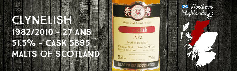 Clynelish 1982/2010 – 27yo – 51,5 % – Cask 5895 – Malts of Scotland