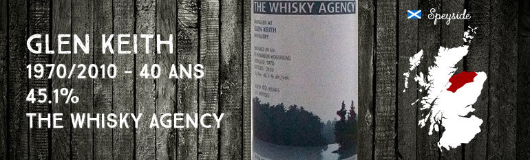 Glen Keith 1970/2010 – 40yo – 45,1 % – The Whisky Agency Landscapes