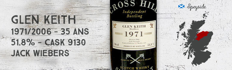 Glen Keith 1971/2006 – 35yo – 51,8 % – Cask 8130 – Jack Wiebers The Cross Hill