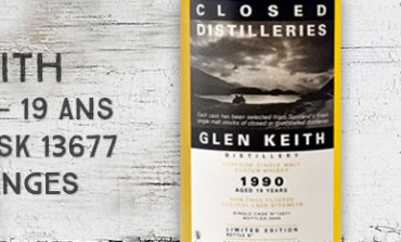 Glen Keith 1990/2009 - 19yo - 52,9 % - Cask 13677 - Part Des Anges Closed Distilleries