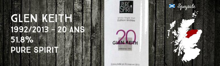 Glen Keith 1992/2013 – 20yo – 51,8% – PureSpirit