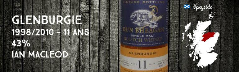 Glenburgie 1998/2010 – 11yo – 43% – Cask4980+4983 – Ian MacLeod Dun Bheagan