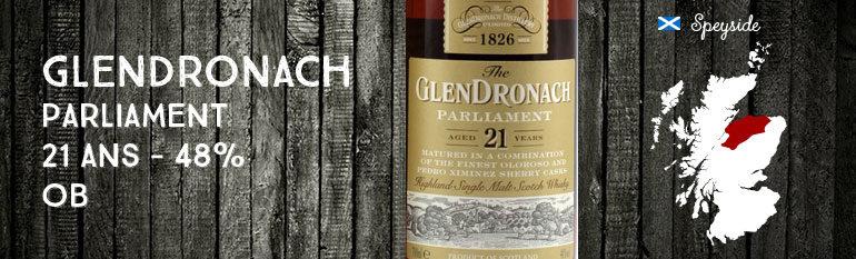 Glendronach Parliament – 21yo – 48% – OB – 2012