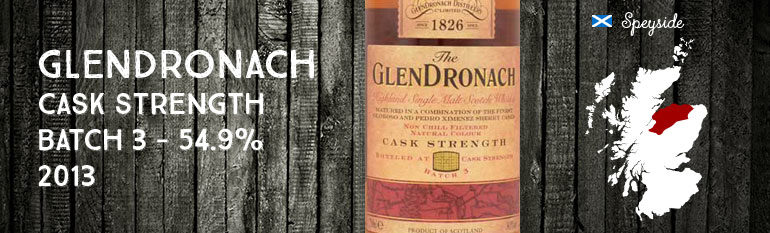 Glendronach – Cask Strength – batch 3 – 54,9% – OB