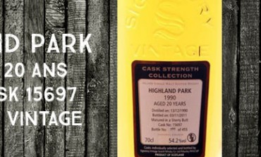 Highland Park - 1990/2011 - 20yo - 54,2% - Cask 15697 - Signatory Vintage Cask Strength Collection