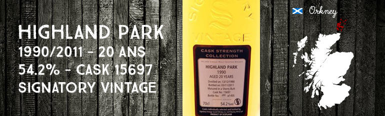 Highland Park – 1990/2011 – 20yo – 54,2% – Cask 15697 – Signatory Vintage Cask Strength Collection