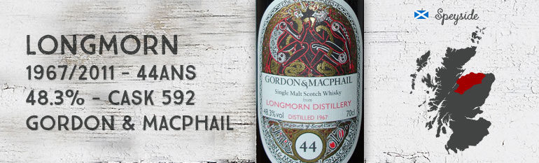 Longmorn 1967/2011 – 44yo – 48,3 % – Cask 592 – Gordon & Macphail for LMDW – Book of Kells