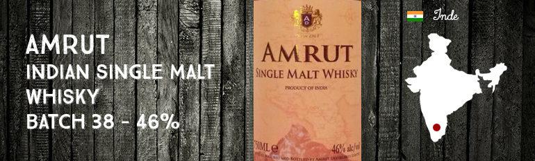 Amrut Indian Single Malt Whisky – Batch 38 – 46 %