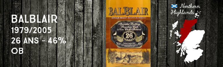Balblair 1979/2005 – 26yo – 46%– OB