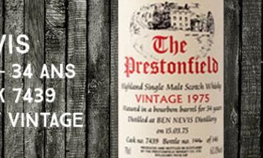 Ben Nevis 1975/2009 – 34yo - 63 % - Cask 7439 - Signatory Vintage The Prestonfield