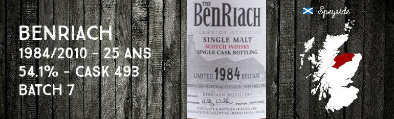 Benriach 1984/2010 – 25yo – 54,1 % – Cask 493 – Batch 7 – OB
