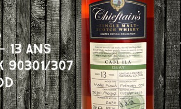 Caol Ila 1996/2009 - 13yo - 46 % - Cask 90301/90307 - Medoc Finish - Ian MacLeod Chieftain's