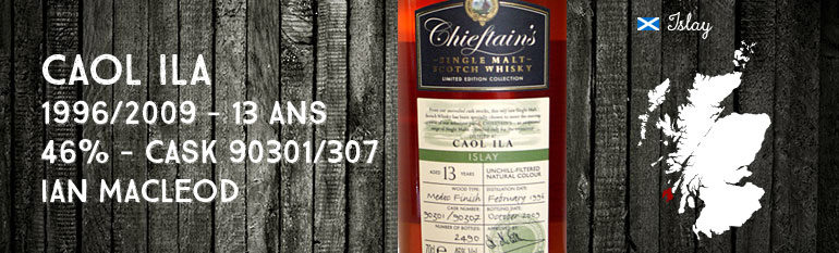 Caol Ila 1996/2009 – 13yo – 46 % – Cask 90301/90307 – Medoc Finish – Ian MacLeod Chieftain's