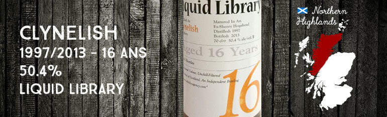 Clynelish 1997/2013 – 16yo – 50,4 % – The Whisky Agency Liquid Library