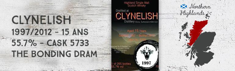Clynelish 1997/2012 – 15yo – 55,7% – Cask 5733 – The Bonding Dram