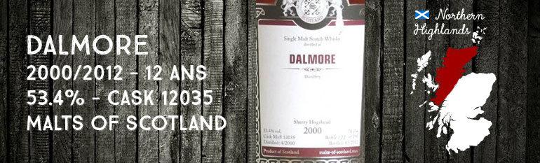 Dalmore – 2000/2012 – 12yo – 53,4% – Cask 12035 – Malts of Scotland