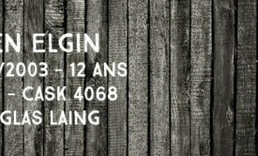 Glen Elgin 1991/2003 – 12yo – 50 % - Cask 4068 – Douglas Laing Old Malt Cask