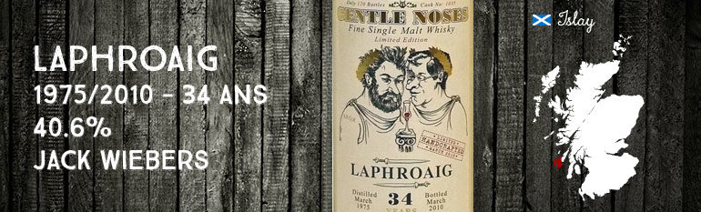 Laphroaig 1975/2010 – 34yo – 40,6 % – Cask1035 – Jack Wiebers World Whisky GentleNoses