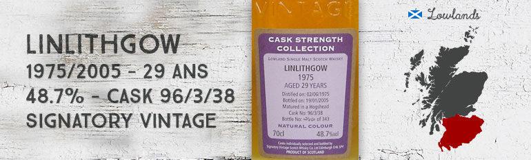 Linlithgow 1975/2005 – 29yo – 48,7 % – Cask 96/3/38 – Signatory Vintage Cask Strength