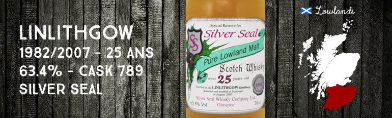 Linlithgow – 1982/2007 – 25yo – 63.4% – Cask 789 – Silver Seal