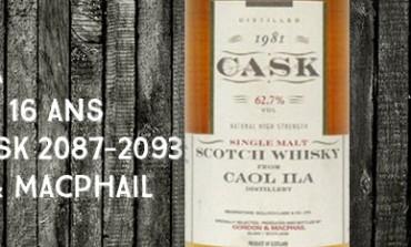 Caol Ila 1981/1997 - 16yo - 62,7 % - cask2087-2093 - Gordon&Macphail