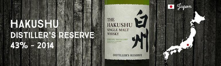 Hakushu Distiller's Reserve – 43 % – OB – 2014