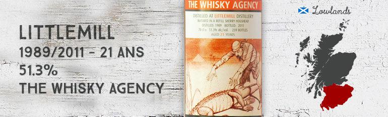 Littlemill 1989/2011 – 21yo – 51,3 % – The Whisky Agency Grotesque Crocs
