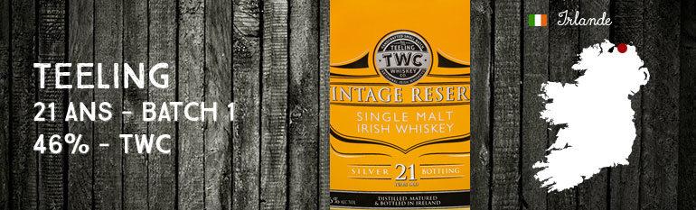 Teeling 21yo – Reserve Sauternes Finish – 46 %