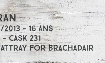Arran 1996/2013 - 16yo – 53 % - Cask 231 - A.D. Rattray for Brachadair
