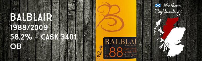 Balblair 1988/2009 – 58,2 % – Cask 3401 – OB