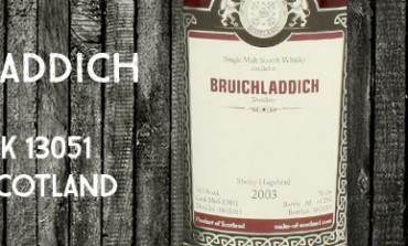 Bruichladdich 2003/2013 -  56,3 % - cask 13051 - Malts of Scotland
