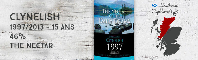 Clynelish 1997/2013 15yo – 46 % – The Nectar – The Nectar of the Daily Dram