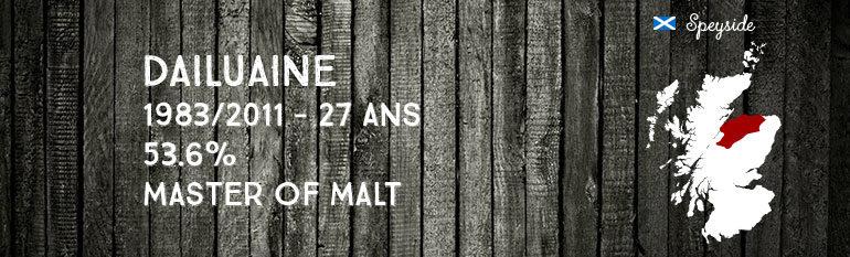 Dailuaine 1983/2011 – 27yo – 53,6 % – MasterofMalt