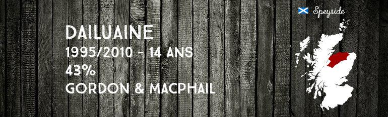 Dailuaine 1995/2010 – 14yo – 43 % – Gordon&MacPhail Connoisseurs Choice
