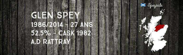 Glen Spey 1986/2014 – 27yo –  52,5 % – Cask1982 – Dewar Rattray