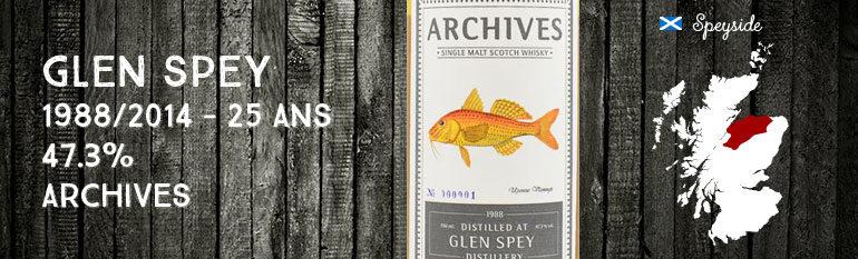 Glen Spey – 1988/2014 – 25yo – 47,3% – Cask356079 – ArchivesFishesofSamoa
