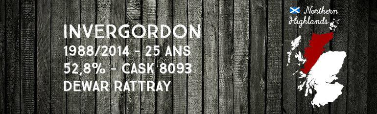 Invergordon 1988/2014 – 25yo – 52,8 % – Cask8093 – Dewar Rattray