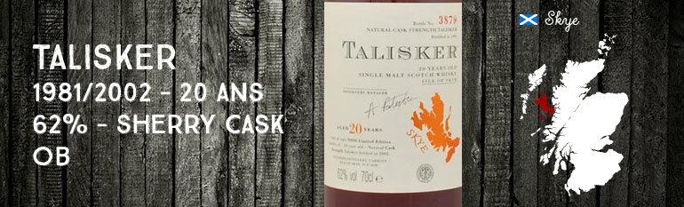 Talisker – 1981/2002 – 20yo – 62% – OB Sherry Cask