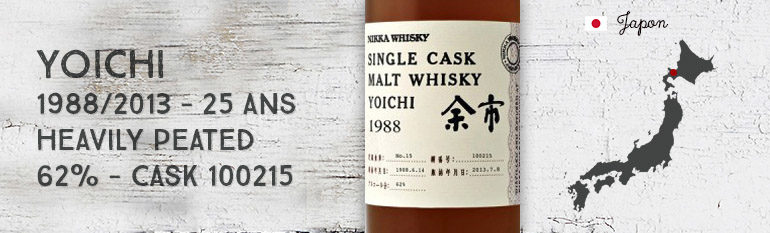 Yoichi 1988/2013 Heavily Peated – 25yo – 62 % – Cask 100215 – OB