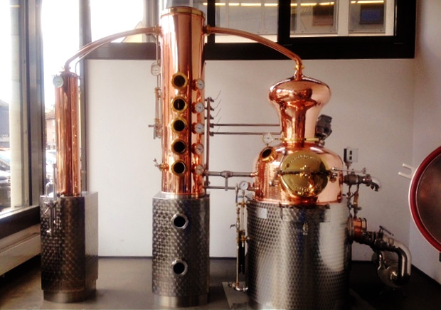 Aperçu de l'alambic de la Distillerie de Paris