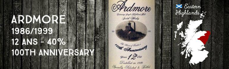 Ardmore 1986/1999 – 12yo – 40 % – OB 100th Anniversary