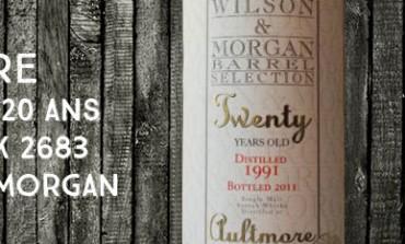 Aultmore 1991/2011 - 20yo - 50% - Cask 2683 - Wilson & Morgan