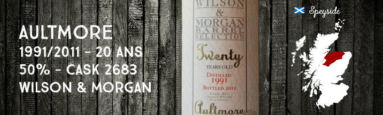 Aultmore 1991/2011 – 20yo – 50 % – Cask 2683 – Wilson & Morgan
