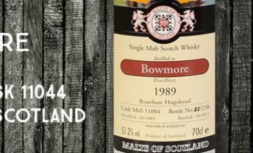 Bowmore 1989/2011 - 51,2% - Cask 11004 - Malts of Scotland