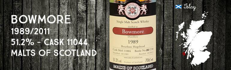 Bowmore 1989/2011 – 51,2% – Cask 11004 – Malts of Scotland