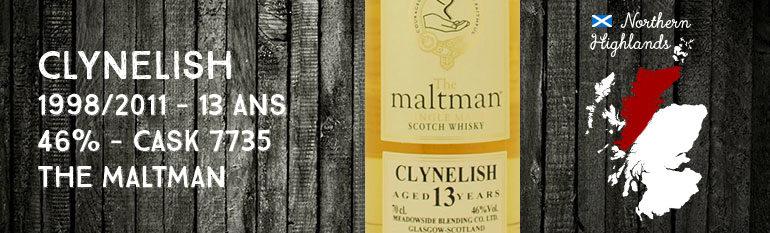 Clynelish 1998/2011 – 13yo – 46% – Cask 7735 – The maltman