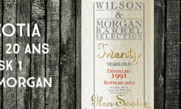 Glen Scotia Twenty - 1991/2012 – 20yo - 44,2 % - Cask 1 - Wilson & Morgan Barrel Selection